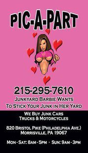 JunkYard Barbie Pic A Part
